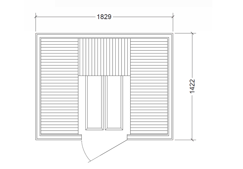 Infra kabína Prime+ 1814, infra sauny, suchá sauna, Fisa sauny, Saunabau, infra kabíny, Tylo, Helo, wellness, sauny