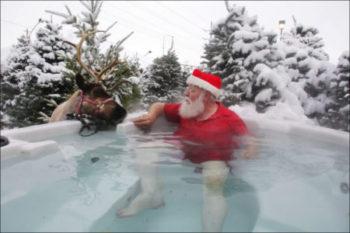 sauna vianoce